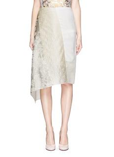 STELLA MCCARTNEYMetallic floral brocade asymmetric hem crepe skirt