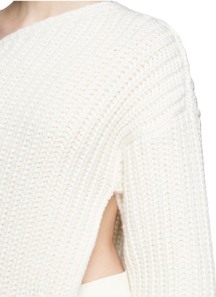 Detail View - Click To Enlarge - Stella McCartney - Asymmetric side split hem one shoulder long sweater
