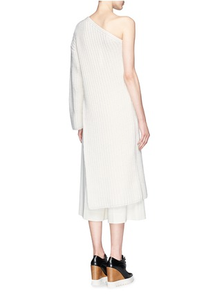 Back View - Click To Enlarge - Stella McCartney - Asymmetric side split hem one shoulder long sweater