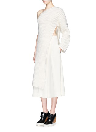Figure View - Click To Enlarge - Stella McCartney - Asymmetric side split hem one shoulder long sweater