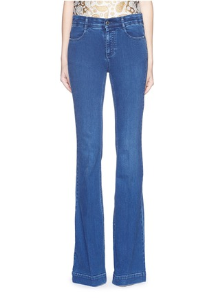 Main View - Click To Enlarge - Stella McCartney - '70's Flare' slim stretch jeans