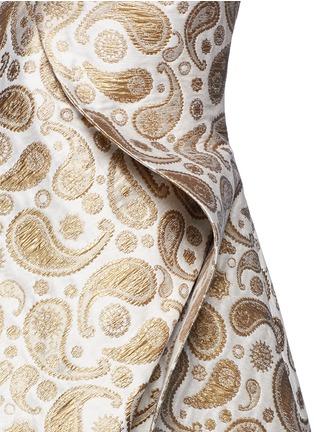 Detail View - Click To Enlarge - Stella McCartney - 'Edele' metallic paisley jacquard off-shoulder dress