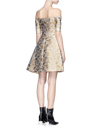 Back View - Click To Enlarge - Stella McCartney - 'Edele' metallic paisley jacquard off-shoulder dress