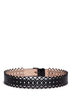 Alaïa 'Vienne' lasercut leather belt