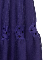 'Rosace' velour embroidery knit flared dress