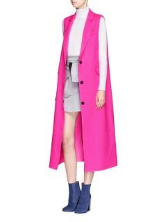 MSGMNotched lapel fleece wool felt vest