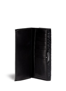 ALEXANDER MCQUEENSkull floral embossed leather continental wallet