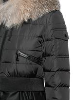 'Sully' fox fur trim flare nylon down jacket