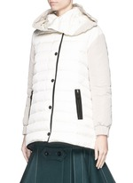 'Rozes' detachable hood down jacket