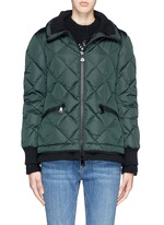 'Maintenon' diamond quilted down jacket