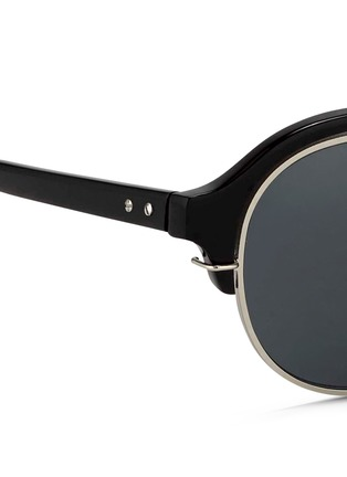 Detail View - Click To Enlarge - KRIS VAN ASSCHE - x Linda Farrow round half acetate frame sunglasses