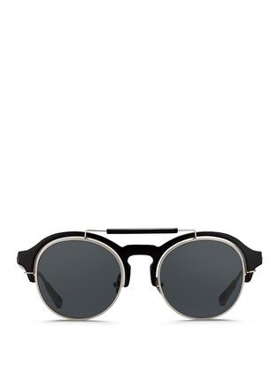 Main View - Click To Enlarge - KRIS VAN ASSCHE - x Linda Farrow round half acetate frame sunglasses
