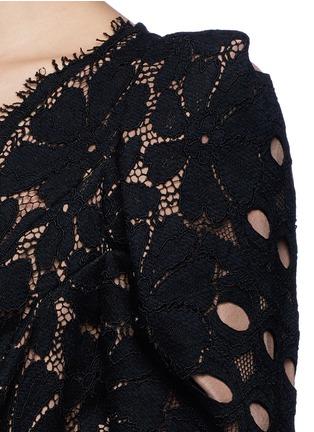 Detail View - Click To Enlarge - Lanvin - Bow waist lace jumpsuit