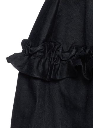 细节 - 点击放大 - J BRAND X SIMONE ROCHA - 荷叶边牛仔短裙