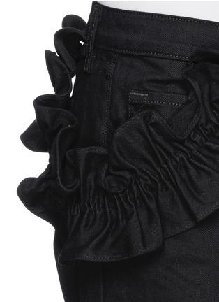 细节 - 点击放大 - J BRAND X SIMONE ROCHA - 荷叶边纯棉牛仔裤