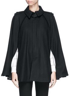 EACH X OTHERx Robert Montgomery 'Woodcut' wool-cashmere cape