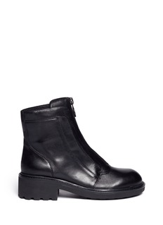 ASH 'Space' front zip leather boots