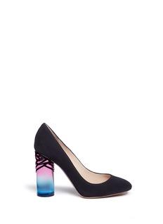 Nicholas Kirkwood'Zaha' ombré cylindrical heel suede pumps