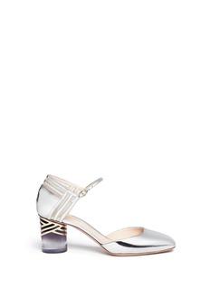 Nicholas Kirkwood'Zaha' ombré cylindrical heel mirror pumps