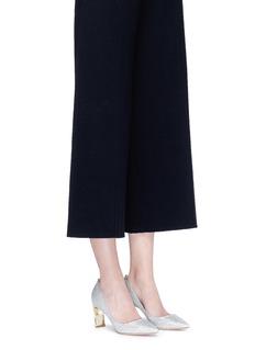 Nicholas Kirkwood'Maeva' faux pearl heel Lurex pumps