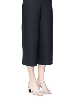 Nicholas Kirkwood'Maeva Pearl' wavy strap glitter Lurex sandals