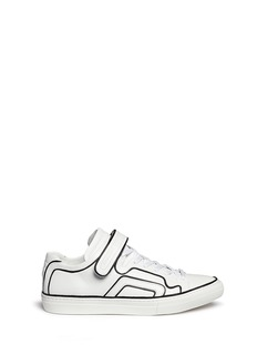 Pierre Hardy 'Match' contrast piping leather sneakers