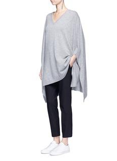 Theory'Thaniel' elastic waist cotton blend pants