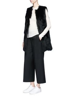 Theory'Idula' fox fur gilet