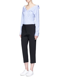 Theory 'Athewin' cropped high waist pants