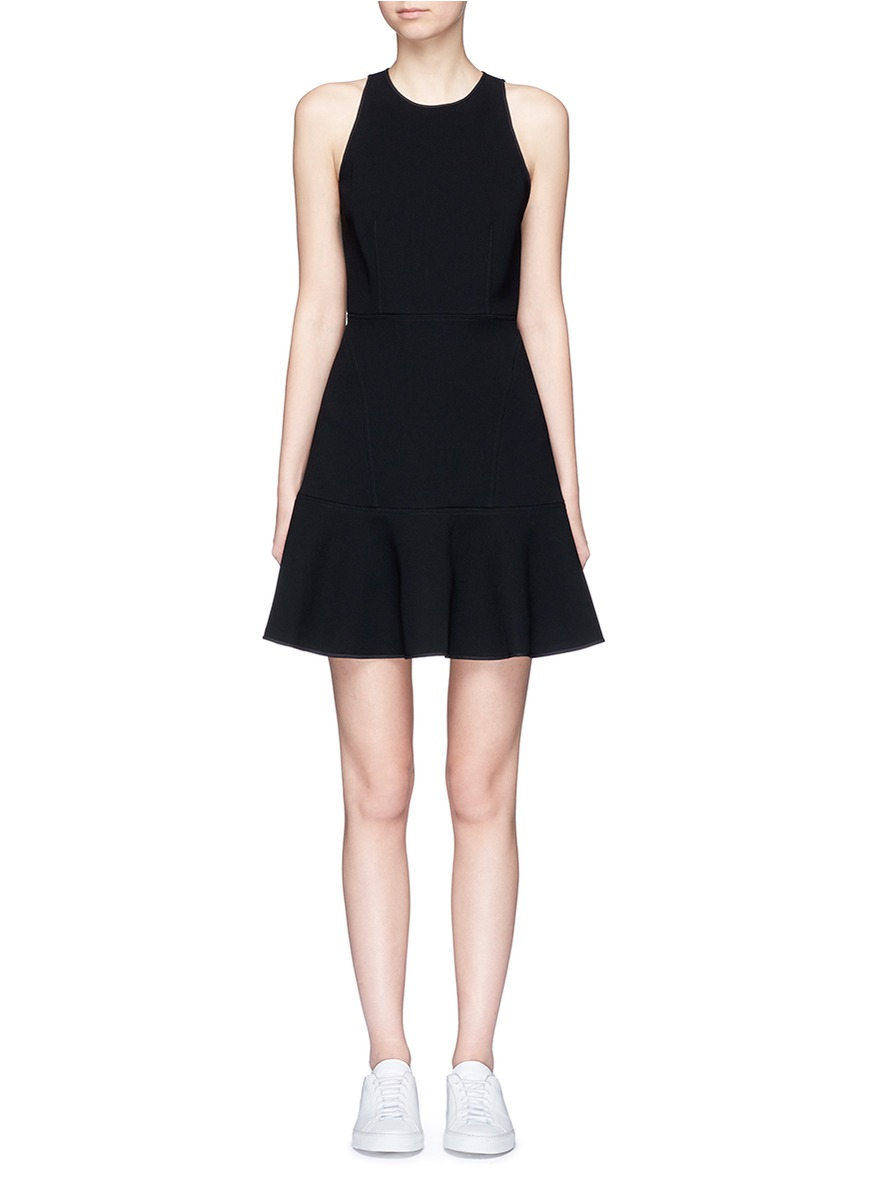 Felicitina bonded crepe flare dress by Theory