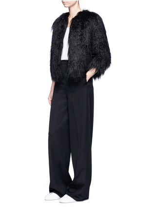 Figure View - Click To Enlarge - Theory - 'Elastana 2' faux fur coat