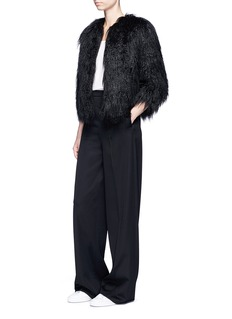 Theory 'Elastana 2' faux fur coat