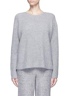 Theory'Twylina' split back cashmere sweater