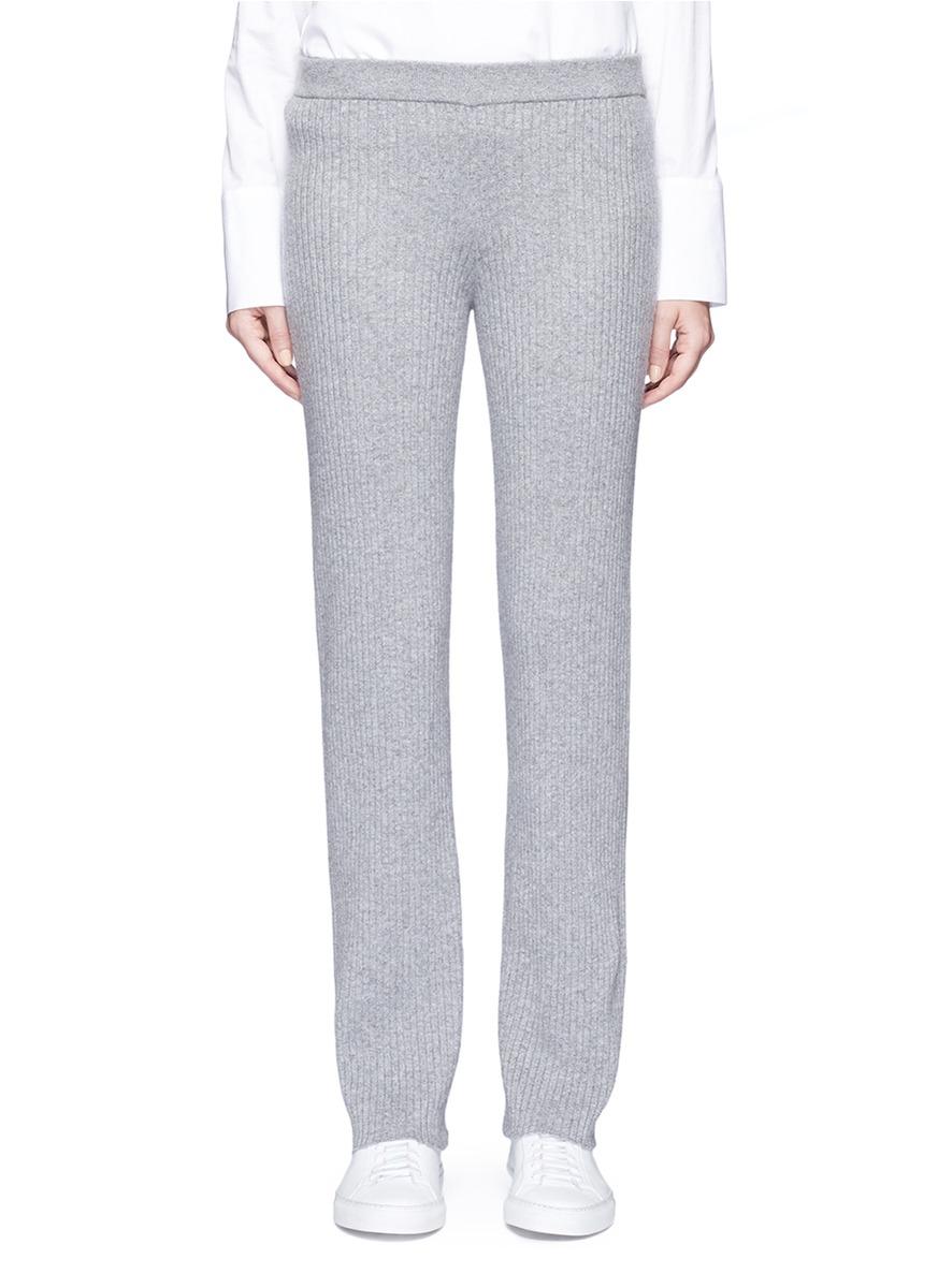 Goshun cashmere blend knit pants by Theory
