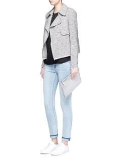Theory'Menefer R' frayed edge tweed jacket