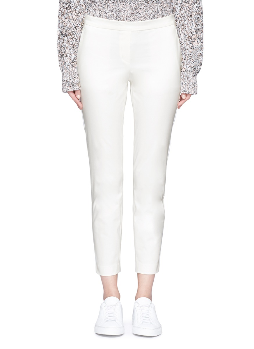 Thaniel stretch cotton blend pants by Theory