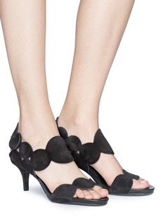 Pedro García 'Winslet' scalloped patent leather sandals