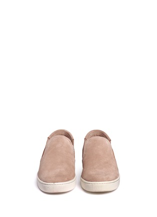 Front View - Click To Enlarge - Pedro García - 'Preston' suede skate slip-ons