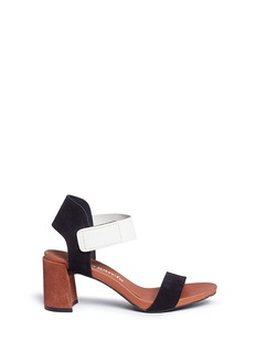Pedro García 'Willa' colourblock leather and suede sandals