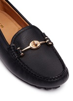 'Arlene' turnlock grainy leather loafers