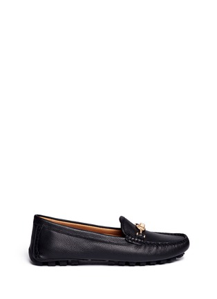Main View - Click To Enlarge - Coach - 'Arlene' turnlock grainy leather loafers