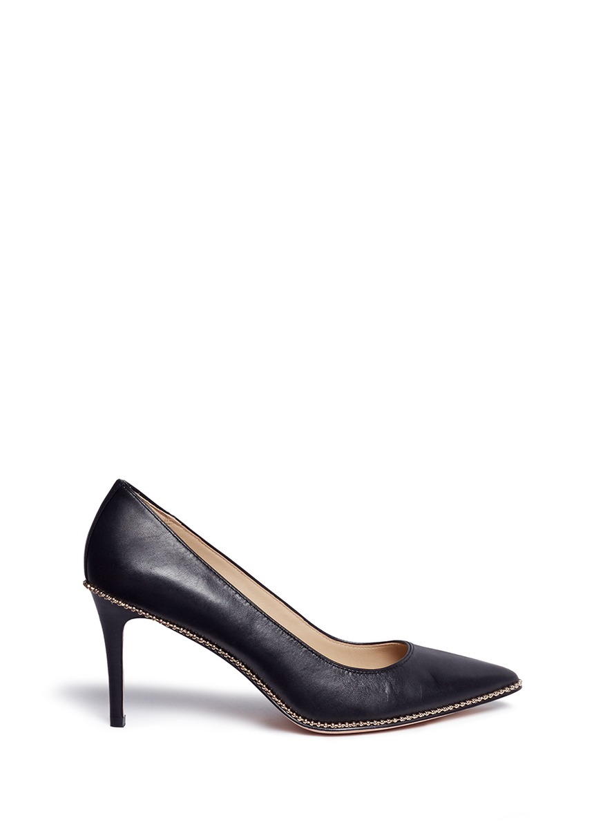 Smith bead chain trim leather pumps by COACH SHOES