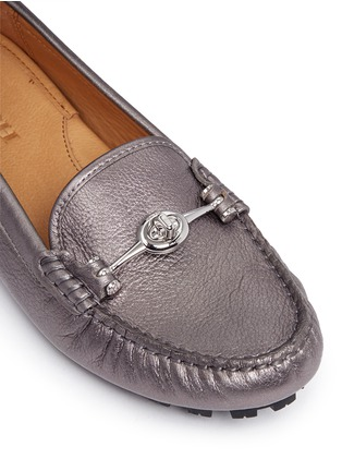 Detail View - Click To Enlarge - Coach - 'Arlene' turnlock tumbled leather loafers