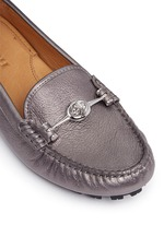 'Arlene' turnlock tumbled leather loafers