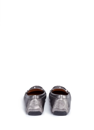 Back View - Click To Enlarge - Coach - 'Arlene' turnlock tumbled leather loafers