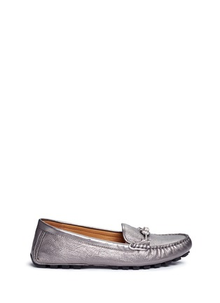 Main View - Click To Enlarge - Coach - 'Arlene' turnlock tumbled leather loafers