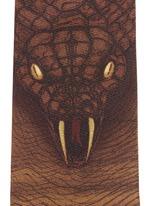 Cobra map print silk tie