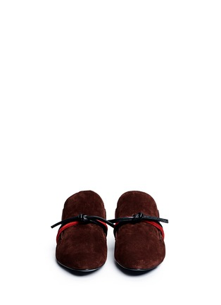 Front View - Click To Enlarge - 3.1 Phillip Lim - 'Louie' knotted suede mules