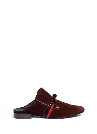 Main View - Click To Enlarge - 3.1 Phillip Lim - 'Louie' knotted suede mules