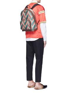 Gucci'GG Supreme' stripe chevron print canvas backpack